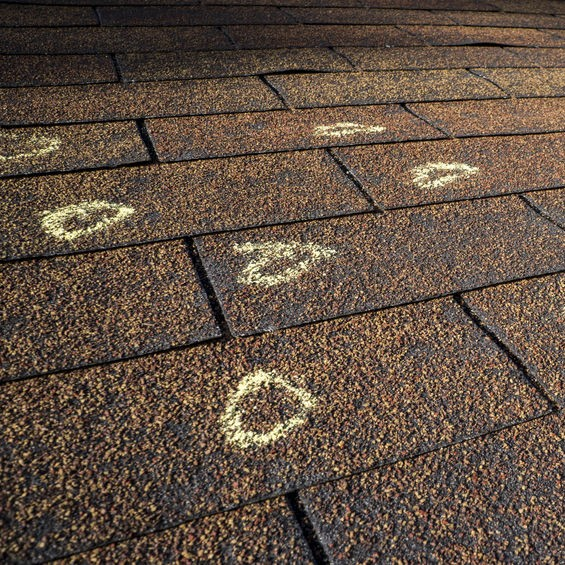 chalk circles roof issues
