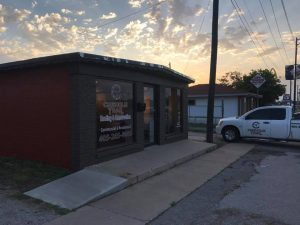 Chisholm Trail Roofing and Construction Office and Truck