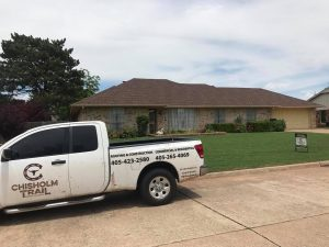 Chisholm Trail Roofing and Construction Company Truck